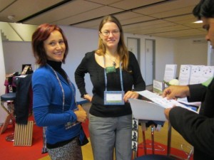 Susanne and Inge at the Global Social Business Summit