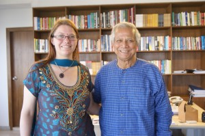 Meeting Prof. Mohammed Yunus in Dhaka in April 2014